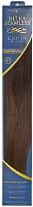"Barely Xtensions 18"" Ultra-Seamless Clip-in Hair Extensions Dark Brown"