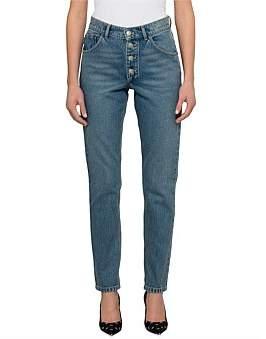 Balenciaga Button Fly High Rise Tube Jean