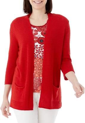 Olsen Boho Love Three-Quarter Sleeve Cardigan