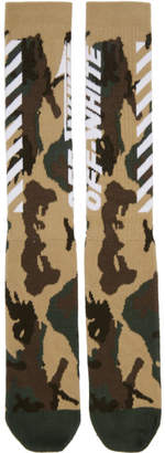Off-White Multicolor Camo Wing Off Socks