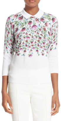 Ted Baker London Karn Thistle Print Sweater $195 thestylecure.com