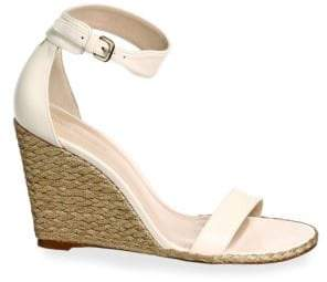 Stuart Weitzman Back Up Wedge Leather Sandal