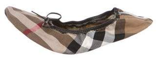 Burberry House Check Woven Slippers