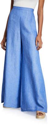 Miguelina Pamela High-Rise Wide-Leg Linen Pants
