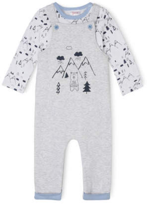 Sprout NEW Overall and T/Shirt Set Grey Marle