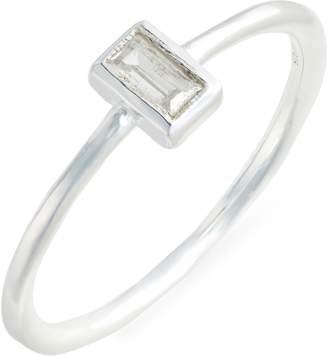 Argentovivo Rectangular Solitaire Ring