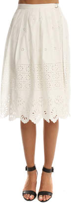 Sea Wrapped Eyelet Skirt