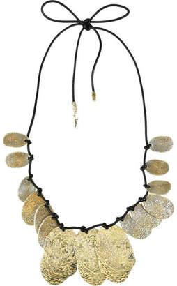 Saint Laurent Gold-plated Fingerprint Charm Necklace
