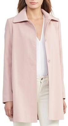 Women's Lauren Ralph Lauren A-Line Crepe Coat $190 thestylecure.com