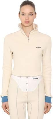 Calvin Klein Zip-Up Heavy Cotton Sweatshirt
