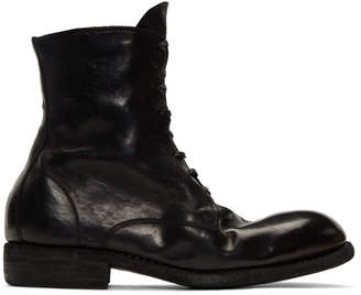 Guidi Black Classic Lace-Up Boots