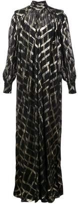 Alberta Ferretti oversized roll neck maxi dress