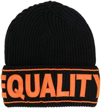 Versace Equality embroidered hat