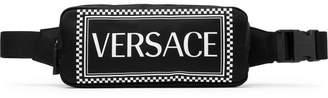 Versace Logo-Print Nylon Belt Bag - Men - Black