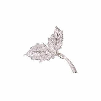 Ri Noor Two Leaf Brooch