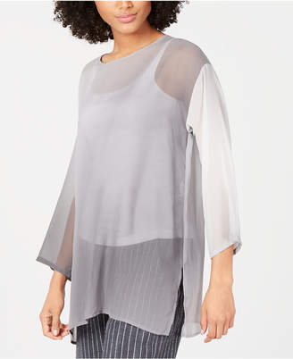 Eileen Fisher Silk Bracelet-Sleeve Tunic, Regular & Petite