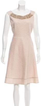 Blumarine Embellished Fit & Flare Dress