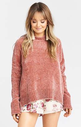 Show Me Your Mumu Jesse Sweater ~ Mauve Chenille