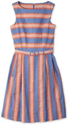 L.L. Bean L.L.Bean Signature Seersucker Sleeveless Dress, Stripes