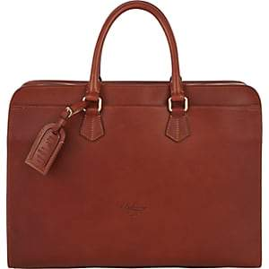 Boldrini Selleria Men's Double-Handle Briefcase-Brown