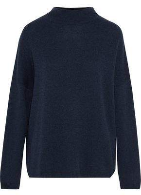 Autumn Cashmere Lace-Up Suede-Trimmed Cashmere Sweater