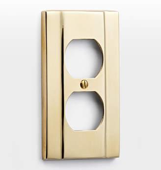 Rejuvenation Solid Cast Brass Single Duplex Switchplate