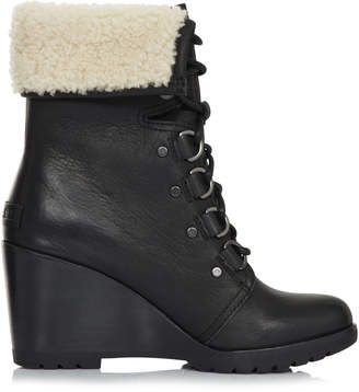 Sorel After Hours Lace Shearling Wedge Boot