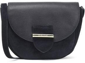 Claudie Pierlot Leather-Paneled Suede Shoulder Bag