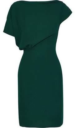 Iris & Ink Diane Gathered Crepe Mini Dress