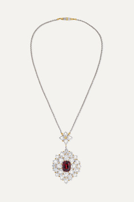Buccellati 18-karat White And Yellow Gold, Diamond And Ruby Necklace - one size