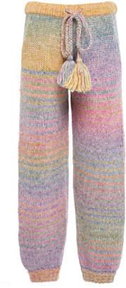 LoveShackFancy Blossom Knit Pant