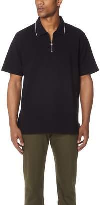Stussy Lion Zip Short Sleeve Polo Shirt
