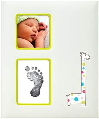 Pearhead Giraffe Babybook, Ivory