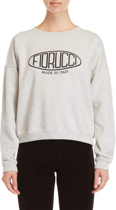 Fiorucci Grey Logo Crop Sweatshirt