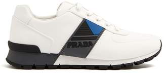 Prada Contrast Panel Low Top Trainers - Mens - White