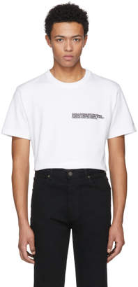Calvin Klein White Logo Text T-Shirt