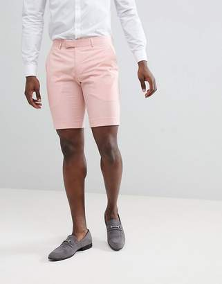 Farah Smart Skinny Shorts In Pink