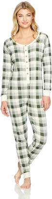 Burt's Bees Baby Women's Adult Organic 1 Piece Holiday Suit Sleepwear, -, X Small