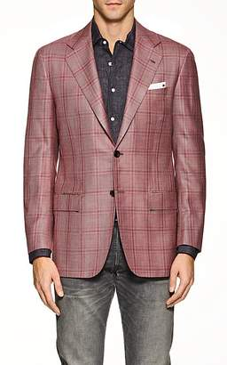 Kiton Men's KB Plaid Silk-Blend Two-Button Sportcoat
