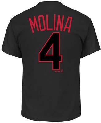 Majestic Men's Yadier Molina St. Louis Cardinals Pitch Black Player T-Shirt