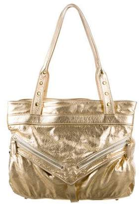 Botkier Metallic Leather Shoulder Bag