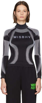 Misbhv Black and White Logo Active Turtleneck Sweater