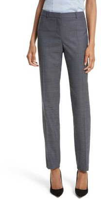 Women's Boss Tilunana Stretch Wool Trousers $285 thestylecure.com