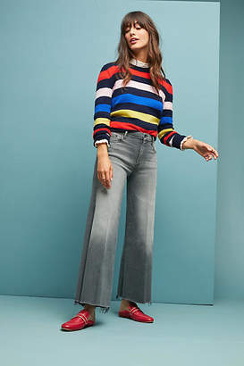 Mother The Roller High-Rise Cropped Fray Jeans
