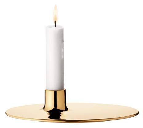 Kerzenhalter Ilse Messing, goldfarben