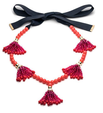 Trina Turk BEADS IN BLOOM TASSEL NECKLACE