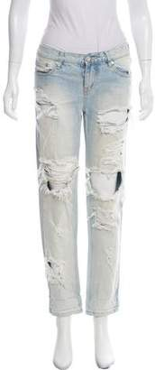 One Teaspoon One x Mid-Rise Distressed Jeans
