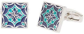 Simon Carter for John Lewis Archive Tile Cufflinks, Navy/Teal