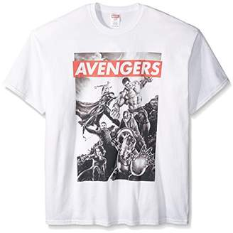 Marvel Men's Avengers Word Bar T-Shirt