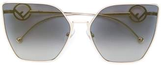Cat Eye Fendi Eyewear oversized sunglasses